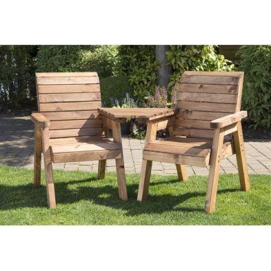 2 Seat Tete-a-tete Companion Love Seat Scandinavian Redwood Garden Set