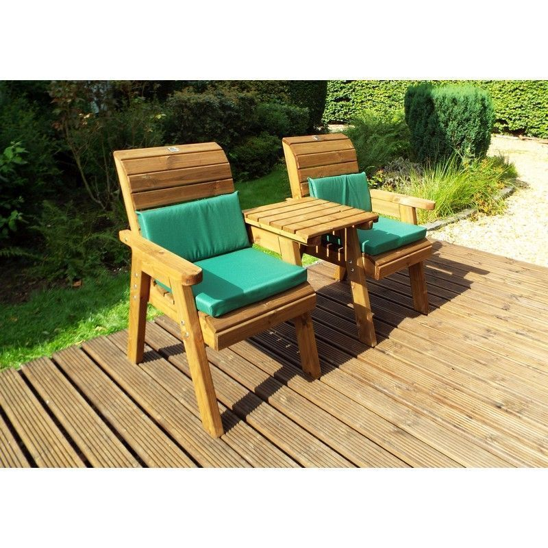 Charles Taylor 2 Seat Companion Straight Garden Bench
