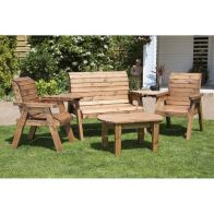 See more information about the Charles Taylor 4 Seat Garden Set With Burgundy Cushion
