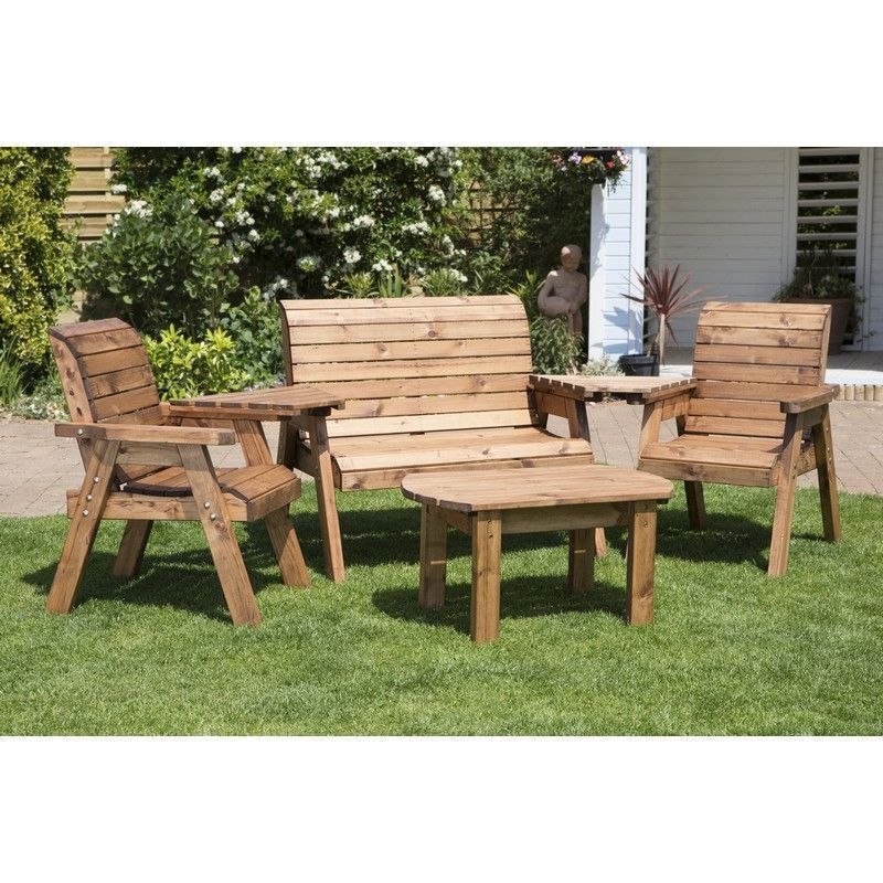 Charles Taylor 4 Seat Garden Set With Green Cushion