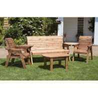 See more information about the Charles Taylor 5 Seat Garden Set With Burgundy Cushion