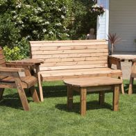 See more information about the 5 Seat Rectangular Table Combi Scandinavian Redwood Garden Furniture