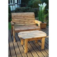 See more information about the Charles Taylor Deluxe 2 Seat Garden Bench Set With Green Cushion