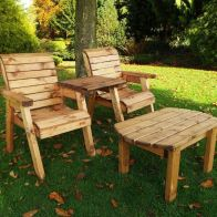 See more information about the Twin Straight Companion Dining Scandinavian Redwood Garden Set