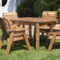 See more information about the 4 Chairs & Rectangular Table Scandinavian Redwood Garden Furniture