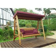See more information about the Charles Taylor Dorset 3 Seat Swing With Burgundy Cushion