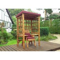 See more information about the Charles Taylor Wentworth Single Seat Arbour With Burgundy Cushion