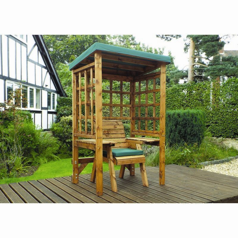 Charles Taylor Wentworth Single Seat Arbour With Green Cushion