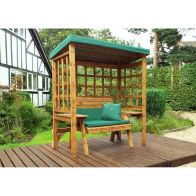 See more information about the Charles Taylor Wentworth 2 Seat Arbour With Green Cushion