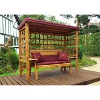 See more information about the Charles Taylor Wentworth 3 Seat Arbour Burgundy - Burgundy Cushion