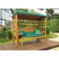 See more information about the Charles Taylor Wentworth 3 Seat Arbour With Green Cushion