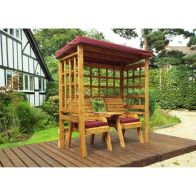 See more information about the Charles Taylor Henley Seat Arbour Burgundy Roof With Burgundy Cushion