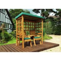 See more information about the Charles Taylor Henley Seat Arbour Green Roof With Green Cushion
