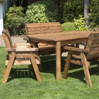 See more information about the 6 Seat Rectangular Large Table Scandinavian Redwood Garden Furniture