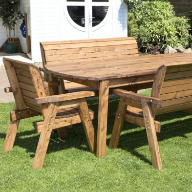 8 Seat Rectangular Table Scandinavian Redwood Furniture Garden Set