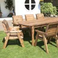 See more information about the 8 Seat Rectangular Table Chairs Scandinavian Redwood Garden Furniture