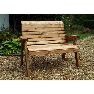 2 Seater Traditional Scandinavian Redwood Garden Bench