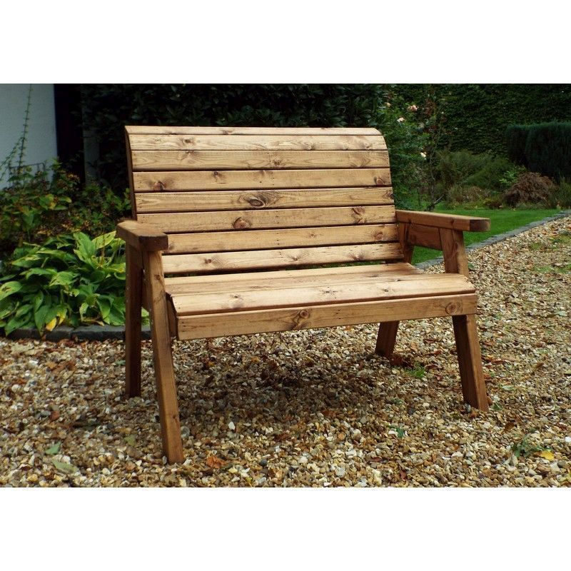 2 Seater Traditional Scandinavian Redwood Garden Bench Buy Online