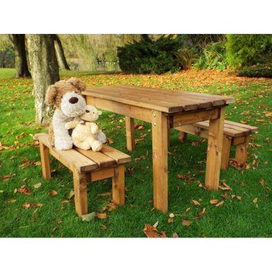 Traditional Scandinavian Redwood Coffee Garden Table