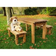 See more information about the Charles Taylor Traditional Scandinavian Redwood Coffee Garden Table