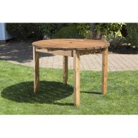 See more information about the 4 Seat Round Scandinavian Redwood Garden Table