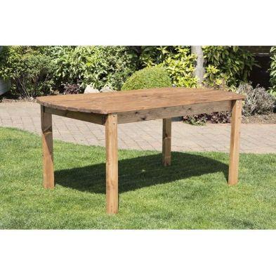 6 Seat Scandinavian Redwood Rectangular Garden Table