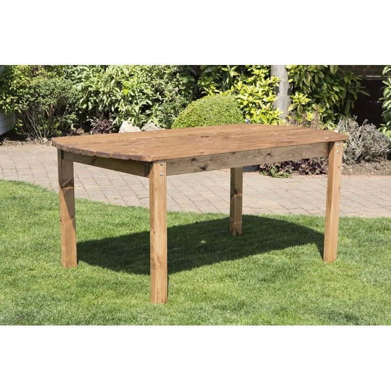6 Seat Scandinavian Redwood Rectangular Garden Table