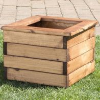 See more information about the Small Square Scandinavian Redwood Garden Planter