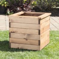 See more information about the Charles Taylor Large Square Scandinavian Redwood Garden Planter