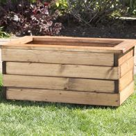 See more information about the Small Scandinavian Redwood Garden Planter Trough