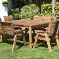 See more information about the 8 Seat Square Table Deluxe Scandinavian Redwood Garden Furniture