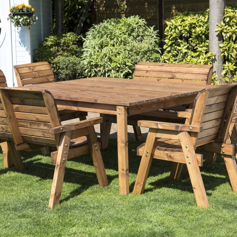 Eight Seater Deluxe Square Table Set Benches And Chairs  : HB44LSV01 from www.ebay.co.uk size 800 x 800 jpeg 214kB