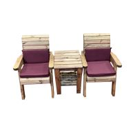See more information about the Charles Taylor 2 Seat Deluxe Companion Set With Burgundy Cushion