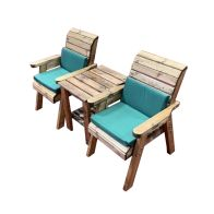 See more information about the Charles Taylor 2 Seat Deluxe Companion Set With Green Cushion