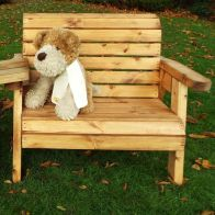 See more information about the Little Fellas Redwood Kids Bench & Chair Combination Garden Furniture