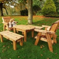 See more information about the Little Fellas 6 Seat Redwood Kids Garden Form Furniture