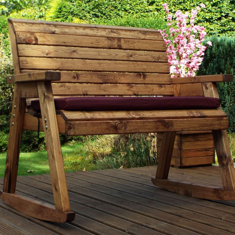 Garden Bench Rocker Scandinavian Redwood