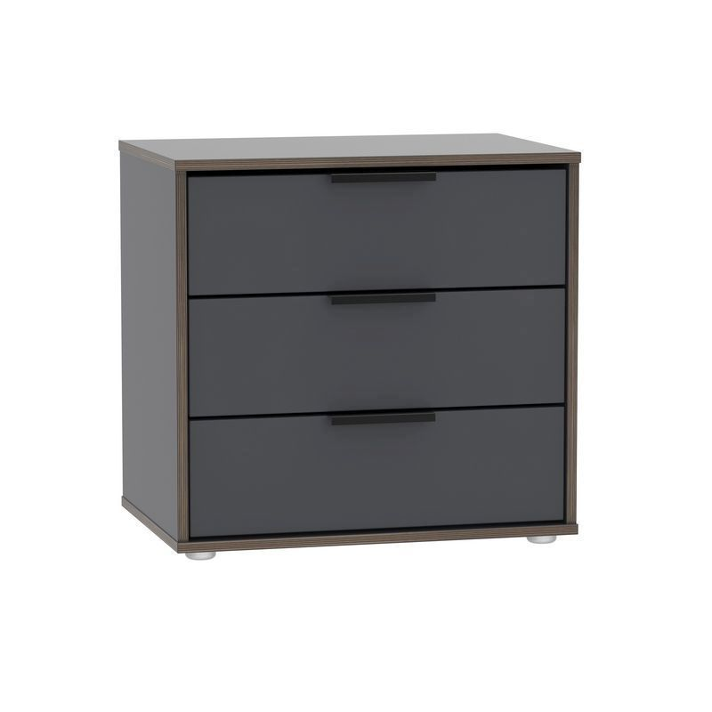 Drayton Black Large Chest Of 3 Drawers