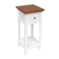 See more information about the 1 Drawer Shabby Chic Bedside Side Table - White
