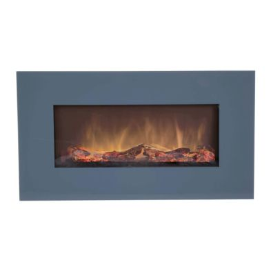 1.5kw Wall Mounted Electric Fireplace - Grey