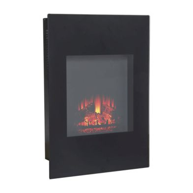 1.5kw Narrow Electric LED Fireplace - Black