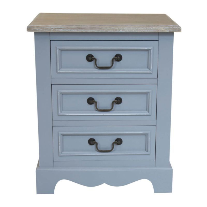 Loxley Bedside Grey 3 Drawers