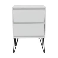 See more information about the 2 Drawer Bedside Table & Metal Legs