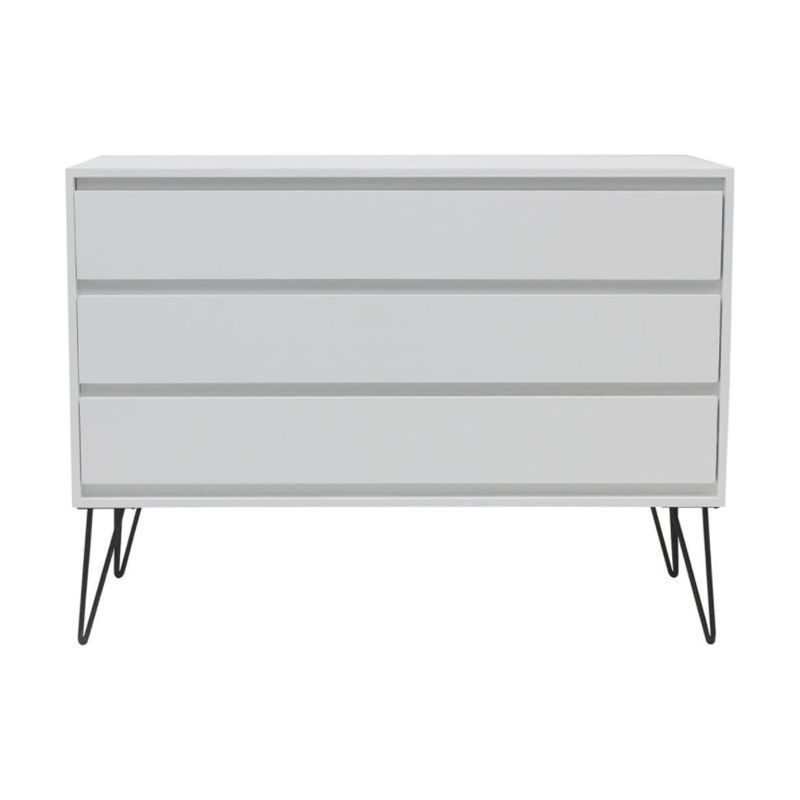 3 Drawer Chest with Metal Legs