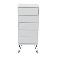 See more information about the 5 Drawer Tallboy with Metal Legs