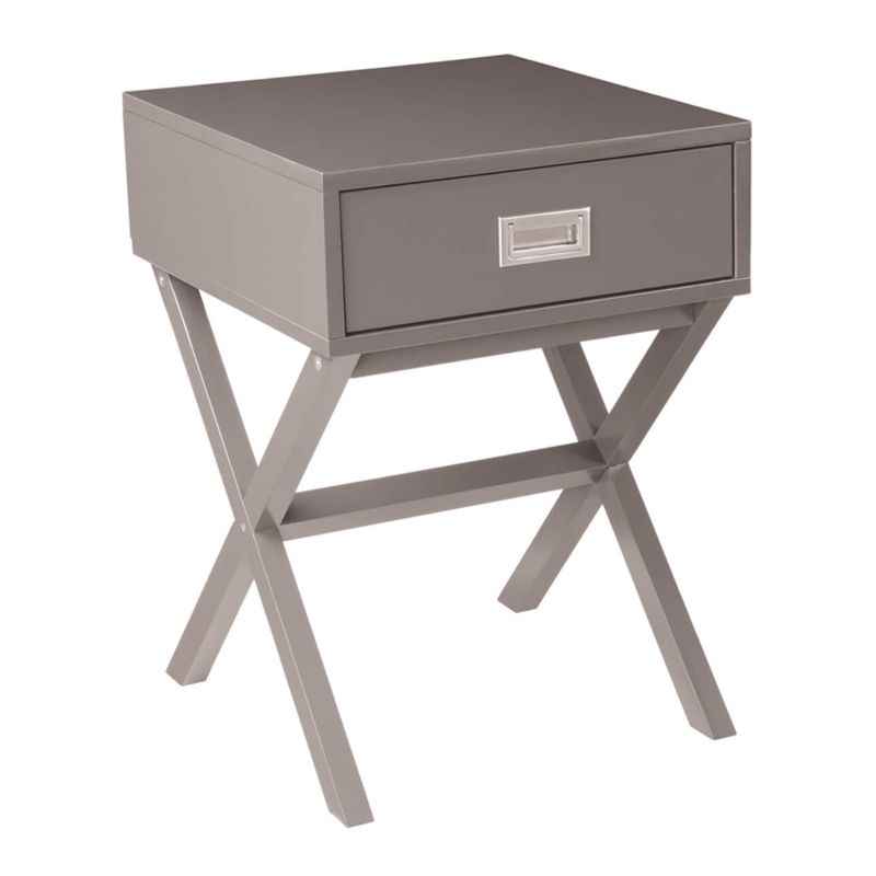 Panama Bedside Grey 1 Drawer