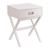 See more information about the 1 Drawer Retro Bedside Table - White