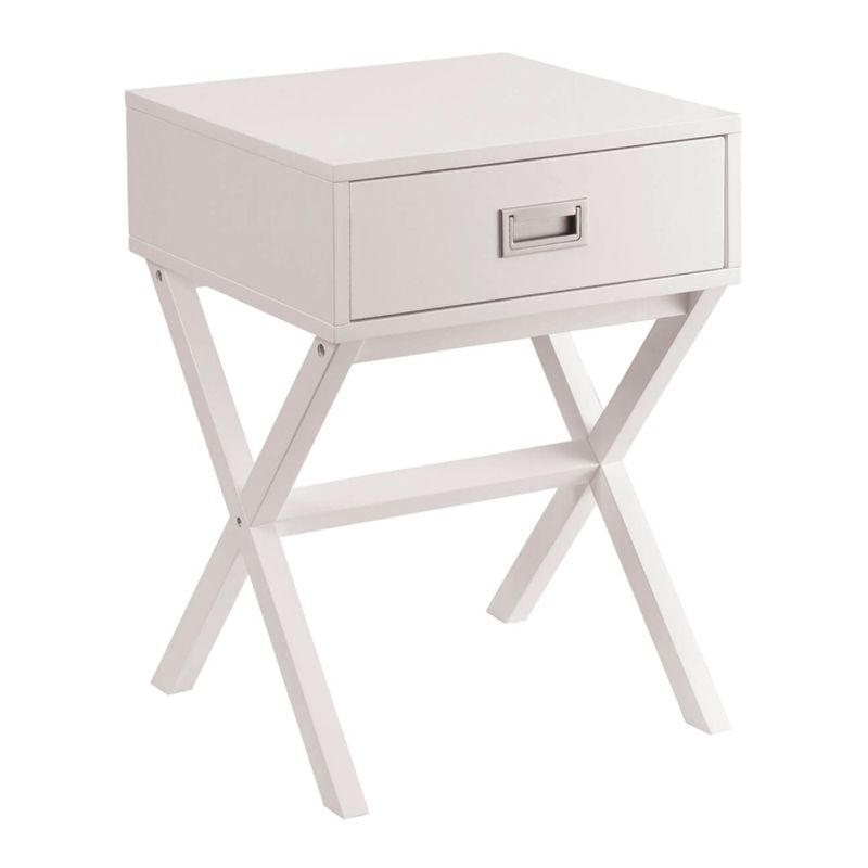 1 drawer retro bedside table white buy online at qd stores for Buy white bedside table