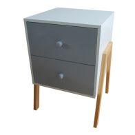 See more information about the 2 Drawer Kids Bedside Table - Grey