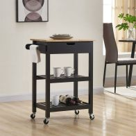 See more information about the Bentley Kitchen Trolley Cart Black
